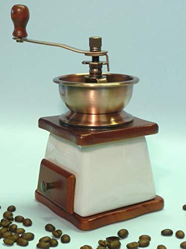 WIM-SHOP Keramik Kaffeemühle in wunderschönem Nostalgie Retro-Design mit Funktion