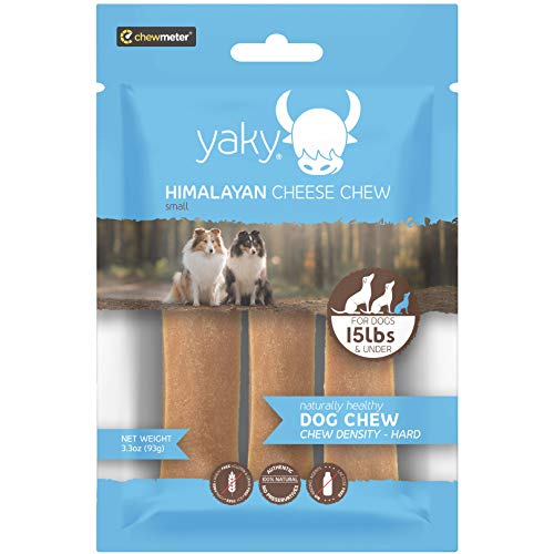 Yaky Cheese Chews | Long Lasting-Stain Free-Protein Rich-Low Odor | 100% Natural, Healthy & Safe | No Lactose, Gluten or Grains | SMALL | for Dogs 15 Lbs & Smaller