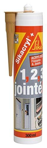 Sikacryl+, Mastic acrylique spécial fissures pour finitions et joints en intérieur et extérieur, 300ml, Chêne