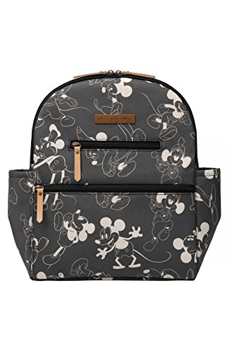 Petunia Pickle Bottom Ace Backpack | Diaper Bag | Diaper Bag Backpack for Parents | Baby Diaper Bag | Stylish and Spacious Backpack for On-The-Go Moms and Dads | Disney's Mickey Mouse – Black