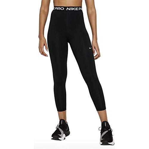 NIKE W NP 365 Tight 7/8 HI Rise Leggings, Mujer, Black/(White), S