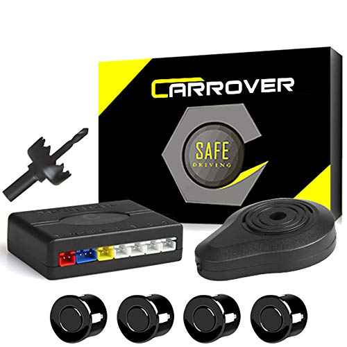 CAR ROVER Auto inversione di Sostegno Sensore di Parcheggio Kit 4 sensori Radar con Buzzer Allarme(Nero)