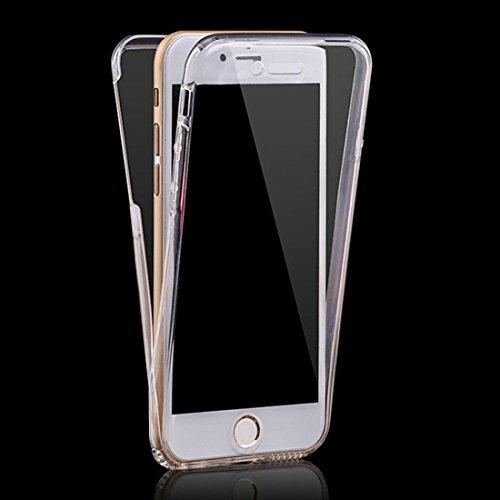 FATEGGS Accesorios para teléfonos móviles para iPhone 6 Plus y 6S más Caja de TPU Transparente Ultrafino de Doble Cara de 0,75 mm. Casos Cubre (Color : Transparent)