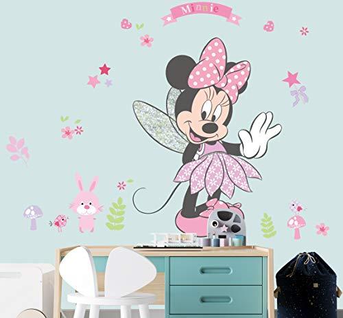 Kibi XXL Wandtattoo Mickey Mouse Wandtattoo Mickey und Minnie Wandaufkleber Mickey Mouse wandsticker Mickey Maus Wandsticker Kinderzimmer Micky Mouse Aufkleber Wanddeko Wandtattoos Mickey Mouse