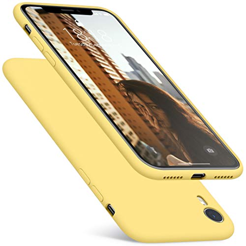 DTTO Compatible with iPhone XR Case, [Romance Series] Silicone Case with Hybrid Protection for iPhone XR 6.1 Inch - Yellow