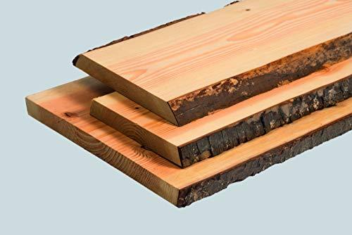 Rettenmeier 30x260-300x1200mm 1 Stück rustikales Brett Douglasie gehobelt mit Baumkante PEFC zertifiziert, Holzfarben, natur