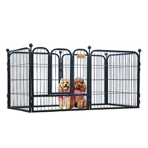 Pet Playpen Oefening Pen Hond Hek Dier Kennel Cage Yard Reizen Camping Metaal Draagbare Vouwen Indoor Outdoor Crate Voor Honden Met Deur 6 Panelen, 4 Kleuren Beschikbaar