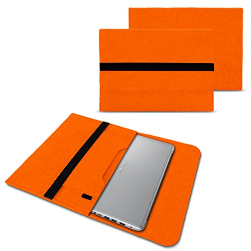 NAUC Notebook Tasche kompatibel mit Acer Swift 1 2 3 5 7 14 Zoll Hülle Filz Sleeve Hülle Schutzhülle Cover, Farben:Orange