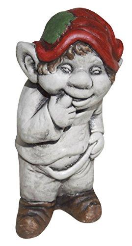 AnaParra Figura Decorativa Duende 23cm. de hormigón-Piedra para jardín Color