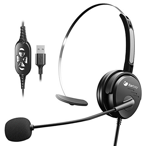 of headphones with microphone volumes USB Headset with Noise Cancelling Mic,Monaural Computer Headset Volume Control with Mute,300°Unidirectional Mic,Pro-Sound Chip for Skype Callcenter Zoom,Ideal for Classroom,Office,Online Chat Courses