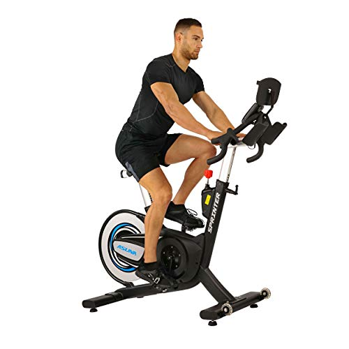 Sunny Health & Fitness 6100 Asuna Sprinter Cycle Exercise Bike - Magnetic Belt, Rear Drive,...