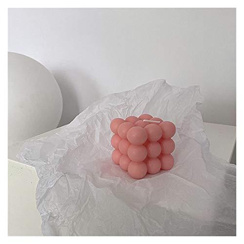 MGYXK Velas Bubble Cubo Vela Linda Soja Cera aromaterapia pequeñas Velas perfumado Relajante Regalo de cumpleaños Velas perfumadas (Color : Gold)