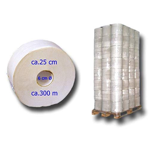 1 Palette Jumbo-Toilettenpapier, Klopapier-Rollen, WC-Papier-Großrolle, 2 lagig ca. 300m 252 Rollen Recycling-Qualität