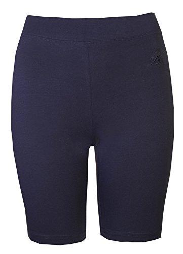 Brody & Co.Pantalones cortos de ciclista de mujer por encima de la rodilla para ir al gimnasio, practicar danza, yoga Azul azul marino S/M