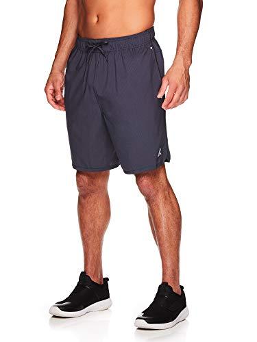 Reebok Herren-Shorts mit elastischem Kordelzug und Taschen, 22,9 cm Innennaht, Herren, Paceline Ebenholz, Medium