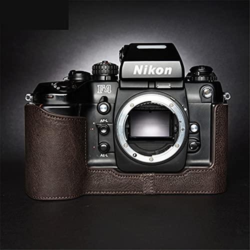 STST Estuche para cámara/Estuche de Cuero para cámara Base de Cuero Genuino Hecho a Mano para Nikon F4 F6,Cocoa Brown,F4