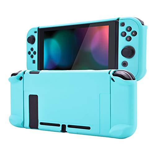 eXtremeRate PlayVital Funda para Nintendo Switch Carcasa Estuche Acoplable Protector Tacto Suave Case de Joycons Protectora Duradera Cover Cáscara para Control Switch Joy-con Consola(Celeste)