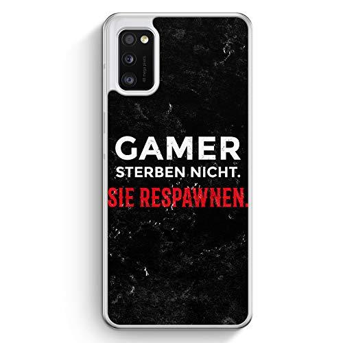 Gamer Sterben Nicht - Sie Respawnen - Hülle für Samsung Galaxy A41 - Motiv Design Spruch Jungs Männer Cool Lustig Witzig - Cover Hardcase Handyhülle Schutzhülle Hülle Schale