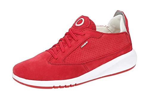 Geox D02HNA 00022 Zapatillas para mujer, color Rojo, talla 38 EU