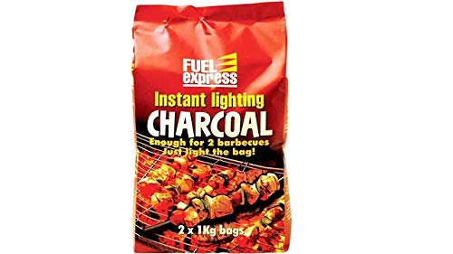Fuel Express 12kg (12 x 1kg bags) Instant Lighting Charcoal BBQ Barbecues