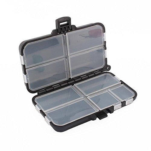 Dilwe Caja de Aparejos de Pesca 9 Compartimentos Caja de Plástico para Pescar