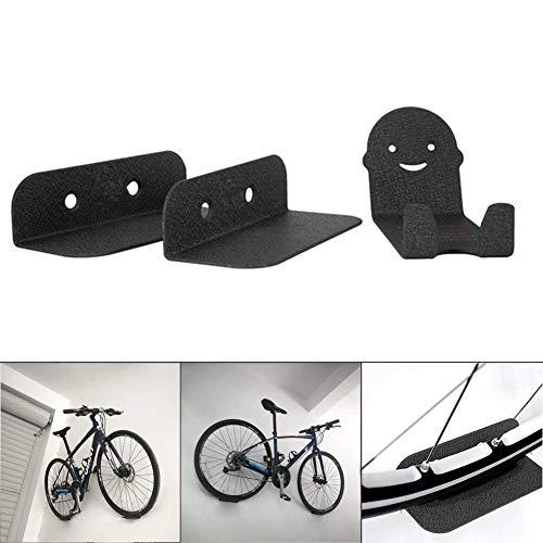 Gymoning Fahrradständer, 3 Stück, zur Wandmontage, Stahl-Stütze, Fahrradpedal, Reifenaufbewahrung