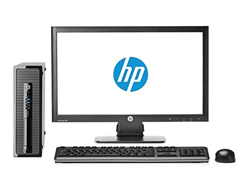 HP Elite 8200 - Ordenador de sobremesa Completo + Pantalla 22 pulgadas(Intel Core I5-2400, 8GB RAM,SSD de 240 GB, DVD, Windows 10 Profesional Original) Negro (Reacondicionado)