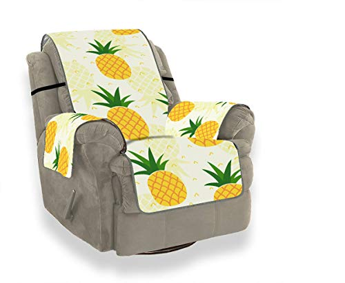 JOCHUAN Seamless Pineapple Pattern Textile Fabric Wallpaper Lodge Sofa Cover Slipcovers for Chairs Universal Sofa Cover Furniture Protector for Pets, Kids, Cats, Sofa