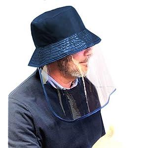 41hbzfp3kwL. SS300  - Gorro protección facial. Pantalla PVC transparente, antivaho. Máxima seguridad. Gorro compatible con mascarilla. Previene el riesgo de contagio. Gorro waterproof.