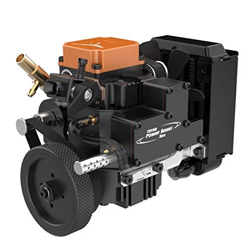 XIKI Viertaktmotor Bausatz Toyan Einzylinder Methanol Engine Motor Modell Set mit Wasserkühlungszubehör für 1:10 1:12 1:14 RC Auto Boot Flugzeug - FS-S100WA2