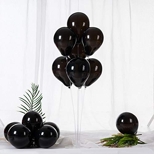 ZOOYOO 5 Inch Black Balloons Mini Black Latex Balloons Party Decorations Supplies,Pack of 100