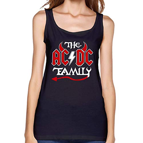 Camiseta sin Mangas ACDC Camiseta sin Mangas de algodón de Moda para Mujer Chaleco de Fitness