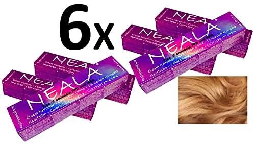 Pack 6 NEALA tinte permanente profesional para el cabello sin amoniaco y sin PPD - 8.3 RUBIO CLARO DORADO - NEALA 6x100ml.