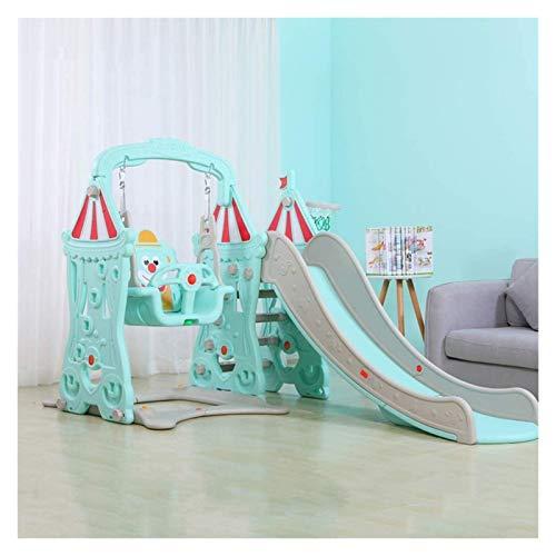 Diapositivas niño y escaladores estructuras de juego interior con Swing y del aro de baloncesto, asientos de columpios al estilo de la tabla de la bola de piscina for niños opcional tobogan infantil R