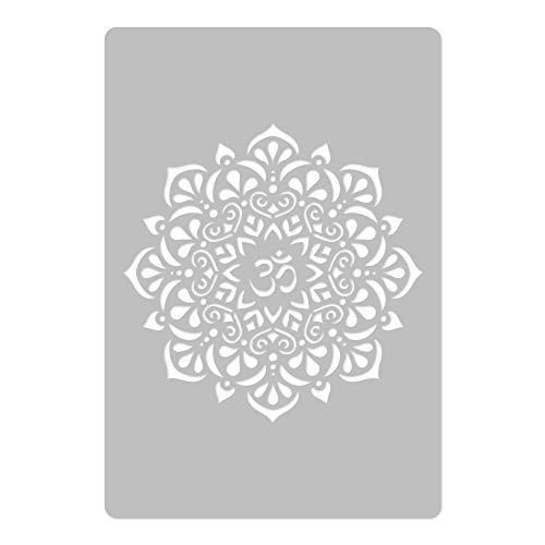 Wiederverwendbare Wandschablone aus Kunststoff // OM Mandala // Muster Schablone Vorlage (DURCHMESSER 39cm)