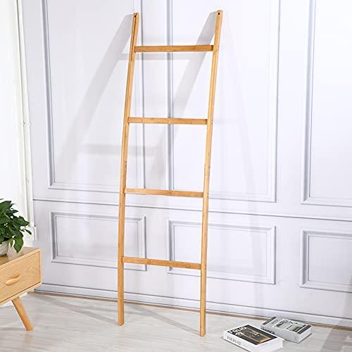 Handtuchhalter, Handtuchleiter Platzsparende Leiterschienen für Handtuch Bambushalter Kleiderständer Dekorativ mit 4 Sprossen