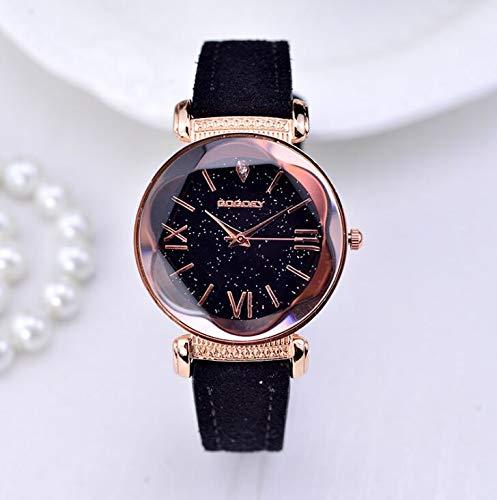 SHOUB Gogoey Marca in Pelle Oro Rosa Orologi Donna Ladies Casual Dress Orologio da Polso al Quarzo Reloj Mujer