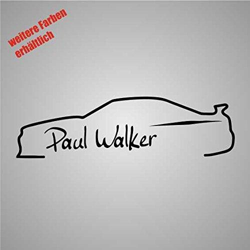 Dinger-Design Aufkleber Unterschrift Paul Walker Auto JDM Tuning 3 Decal Stickerbomb (weiß)