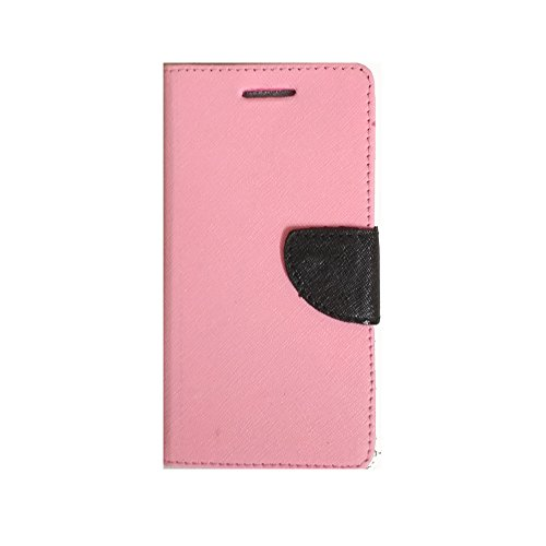 Avzax Luxury Magnetic Lock Diary Wallet Style Flip Cover Case for Micromax Canvas Silver 5 Q450 - Pink