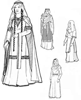 Women of Medieval Romanesque Period Years 1060 to 1150 Pattern