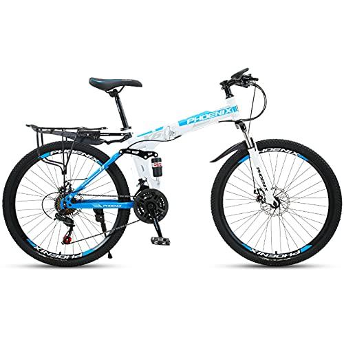 Bicicletas de Montaña Bicicleta De Montaña Plegable De 26 Pulgadas Para Mujeres...