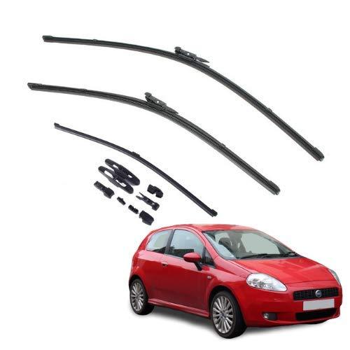 AOQ – Spazzole tergicristallo anteriori e posteriore set da 3 - Fiat Grande Punto