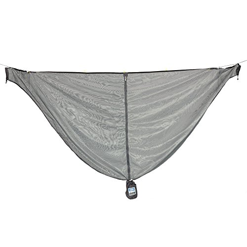 """Equip Outdoors Hammock Bug Mosquito Net with No-See Um Polyester Mesh for 360-Degree Protection, Quick Easy Setup, Grey, 112"""" L x 53"""" H"""