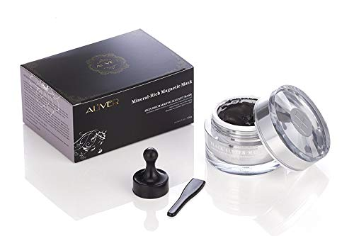 Mineral-Rich Magnetic Face Mask Pore Cleansing Removes Skin Impurities with Iron Based Skin Revitalising Magnetic Age-Defier Formula 50ml