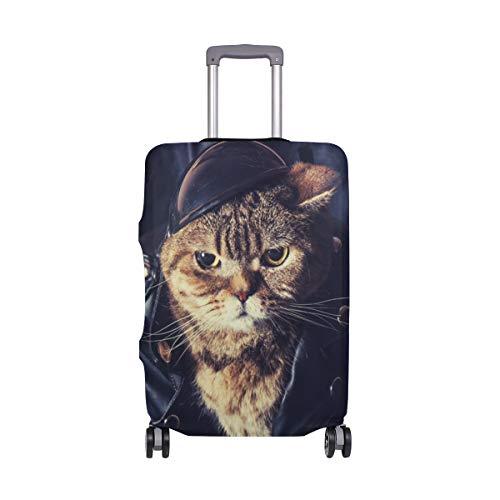 MyDaily Biker Cat Gepäckabdeckung passend für 45,7-81,3 cm Koffer Spandex Reiseschutz