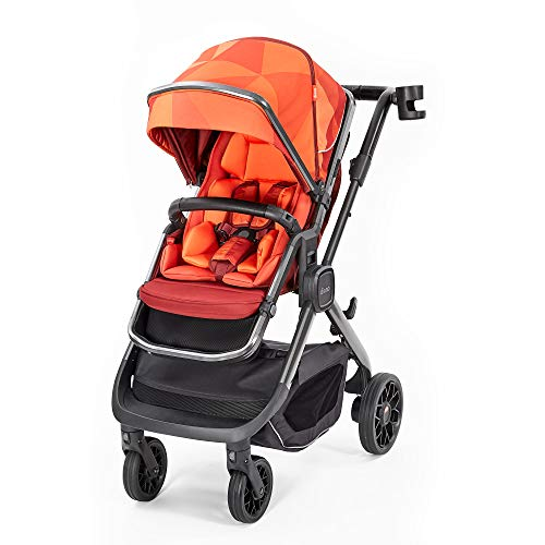 Fantastic Deal! Diono Quantum2, 3-in-1 Luxury Multi-Mode Stroller, Orange Facet