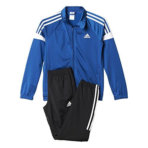adidas Jungen Trainingsanzug YB TS KN TIB CH, Blau/Schwarz/Weiβ, 128