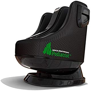 Podiatrist by Medical Breakthrough | ماساژور گوساله و پا با گرما درمانی | Shiatsu ، زانو زدن و فشار دادن ، زانو زدن و نورد ، پیچش و فشار هوا | زاویه های قابل تنظیم (اندازه پاها 5.5 تا 12) (سیاه)