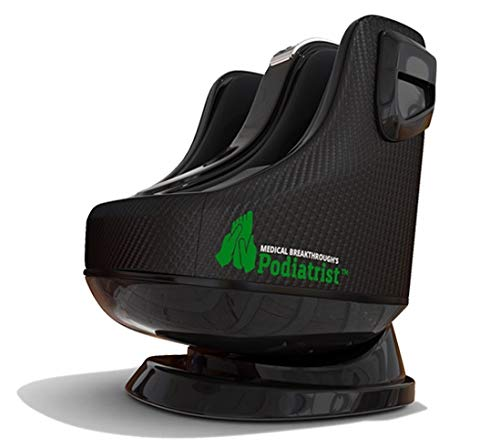 Podiatrist v3 by Medical Breakthrough   Calf & Foot Massager with Heat Therapy   Shiatsu, Kneading & Pushing, Kneading & Rolling, Twist & Air Pressure   Adjustable Angles (Feet Size 5.5 to 12) (Black)