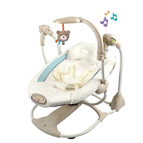 u&h Balancin Bebe hamacas bebesSillas de múltiples Funciones de los niños eléctrico Vibrante Rocker Rocker Cuna para los recién Nacidos Gorila bebé,Blanco